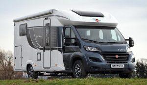 Teaserbild der Neuwagen auf der Kaufseite von Rentmobil - Abgebildet ist ein Bürstner Wohnmobil / Caravan auf einer Wiese